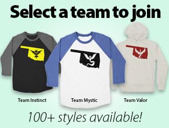 Select a team to join – Oklahoma Pokemon Shirts
