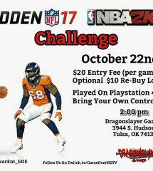 NFL Madden & NBA 2K17 Challenge