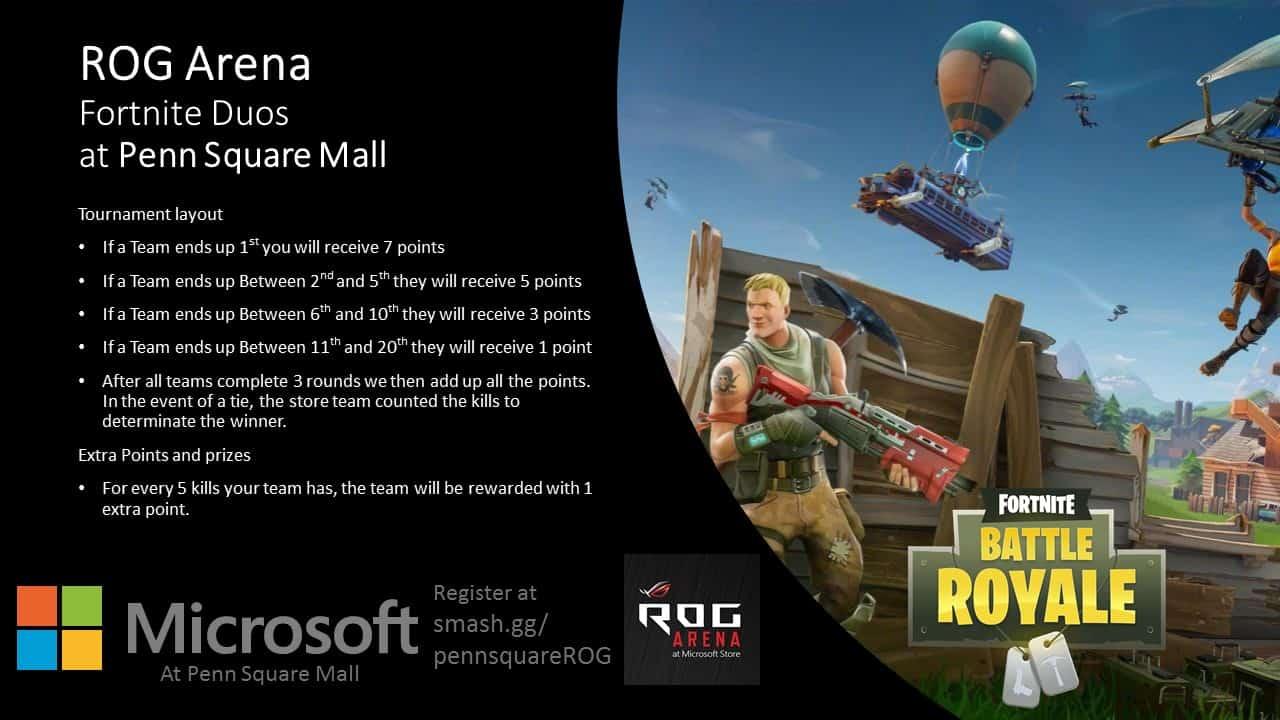 Fortnite at Fortnite Tournament at Microsoft Penn Square